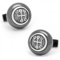 Men's Stick Shift Cufflinks in Sterling Silver