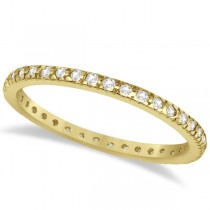 Pave Diamond Eternity Ring Anniversary Band 14K Yellow Gold (0.26ct)