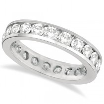 Channel-Set Diamond Eternity Ring Band 14k White Gold (2.25ct)