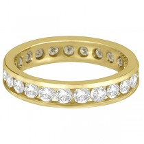 Channel-Set Diamond Eternity Ring Band 14k Yellow Gold (2.25ct)