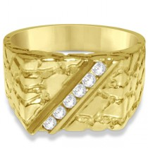 Diamond Accented Engagement Ring in 14k Yellow Gold (0.25ct)