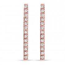 Diamond Bar Earrings 14k Rose Gold (0.10ct)