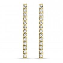 Diamond Bar Earrings 14k Yellow Gold (0.10ct)