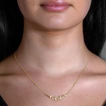 Diamond Vine Pendant Necklace 14k Yellow Gold (0.25ct)