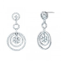 1.95ct 14k White Gold Diamond Fancy Earrings