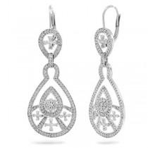 1.35ct 14k White Gold Diamond Fancy Earrings