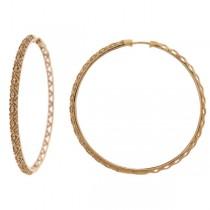 0.60ct 14k Rose Gold Diamond Hoop Earrings
