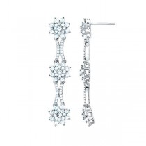 3.15ct 14k White Gold Diamond Fancy Earrings