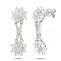 2.00ct 14k White Gold Diamond Fancy Earrings