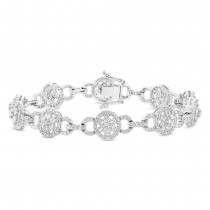 3.40ct 14k White Gold Diamond Lady's Bracelet