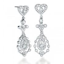 0.85ct 14k White Gold Diamond Earrings