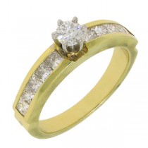 1.15ct 14k Yellow Gold Round Diamond Engagement Ring