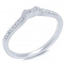 0.10ct 18k White Gold Diamond Diamond Lady's Band Size 6.5