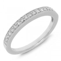 0.20ct 14k White Gold Diamond Lady's Band