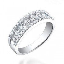1.00ct 14k White Gold Diamond Lady's Band
