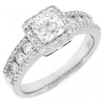 1.77ct 18k White Gold GIA Certified Cushion Cut Diamond Engagement Ring (H Color, VVS1 Clarity)