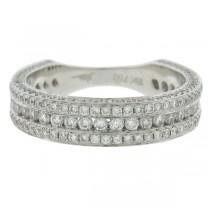 1.40ct 18k White Gold Diamond Lady's Band Size 6