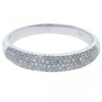 0.35ct 14k White Gold Diamond Lady's Pave Band Size 5