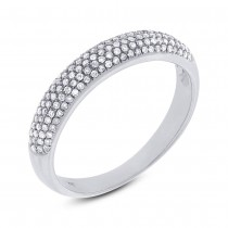 0.35ct 14k White Gold Diamond Lady's Pave Band Size 7