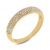 0.35ct 14k Yellow Gold Diamond Lady's Pave Band Size 7