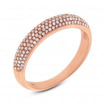0.35ct 14k Rose Gold Diamond Lady's Pave Band Size 7