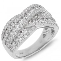 1.90ct 14k White Gold Diamond Lady's Ring