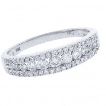 0.60ct 14k White Gold Diamond Lady's Band