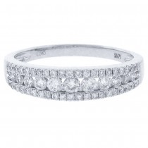 0.60ct 14k White Gold Diamond Lady's Band Size 6.5