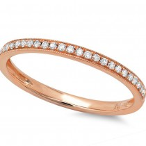 0.12ct 14k Rose Gold Diamond Lady's Band