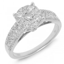 0.75ct 14k White Gold Diamond Lady's Ring