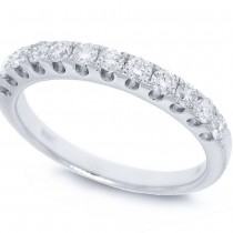 0.50ct 14k White Gold Diamond Lady's Band