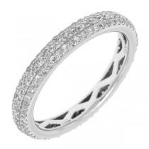 0.48ct 14k White Gold Diamond Lady's Pave Eternity Band