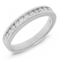 0.26ct 14k White Gold Diamond Lady's Band