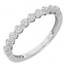0.47ct 14k White Gold Diamond Lady's Band