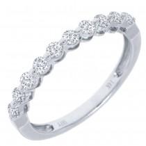 0.47ct 14k White Gold Diamond Lady's Band Size 5.75