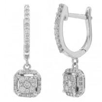 0.32ct 14k White Gold Diamond Earrings