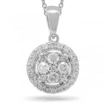 0.28ct 14k White Gold Diamond Pendant Necklace