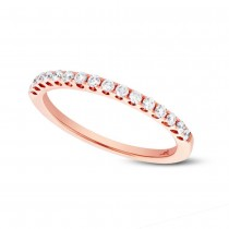 0.27ct 14k Rose Gold Diamond Lady's Band