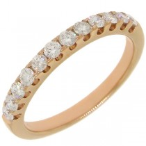 0.50ct 14k Rose Gold Diamond Lady's Band