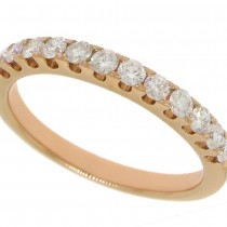 0.50ct 14k Rose Gold Diamond Lady's Band