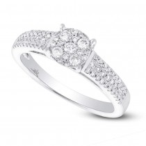 0.38ct 14k White Gold Diamond Lady's Ring