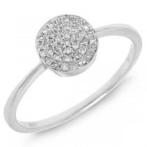 0.11ct 14k White Gold Diamond Pave Lady's Ring