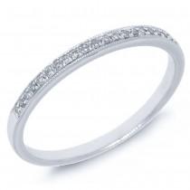 0.07ct 14k White Gold Diamond Lady's Band Size 5.5