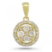 0.28ct 14k Yellow Gold Diamond Pendant Necklace