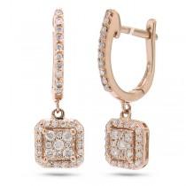 0.32ct 14k Rose Gold Diamond Earrings