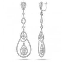 2.78ct 14k White Gold Diamond Earrings