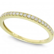 0.19ct 14k Yellow Gold Diamond Lady's Band Size 3.5