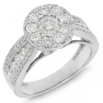 1.25ct 14k White Gold Diamond Lady's Ring