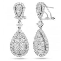 2.65ct 14k White Gold Diamond Earrings