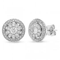 0.65ct 14k White Gold Diamond Earrings